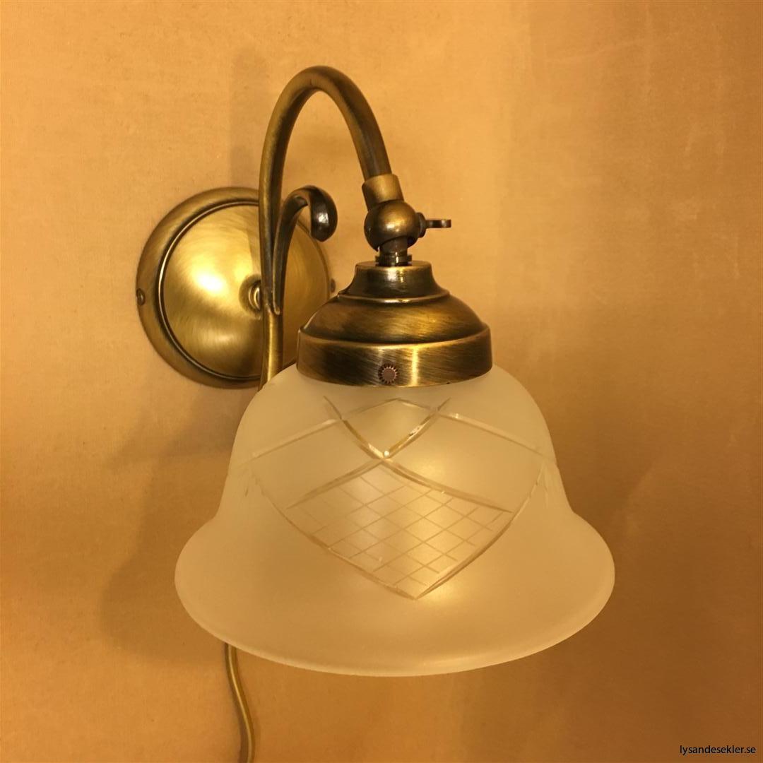 vägglampa jugend mässing elektrisk läslampa (66)