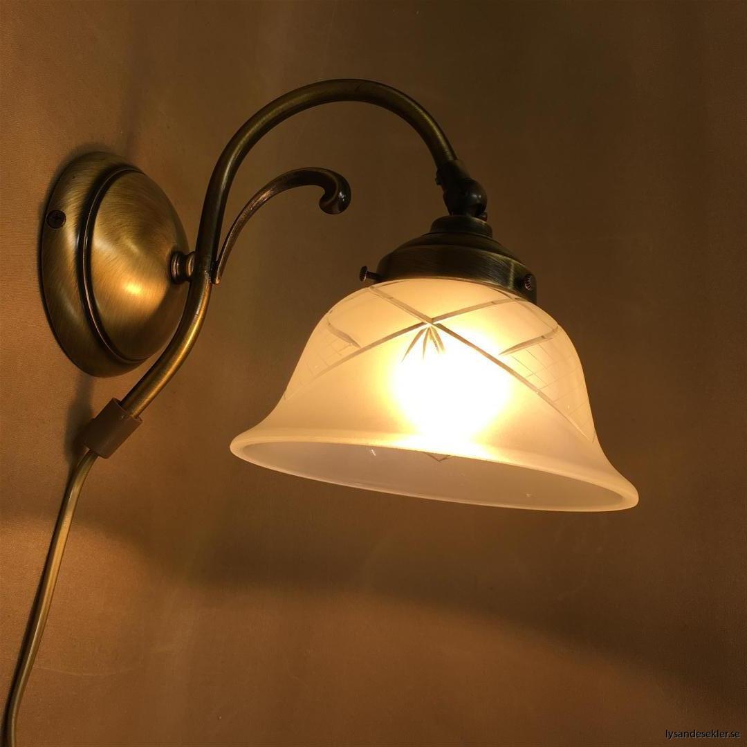 vägglampa jugend mässing elektrisk läslampa (68)