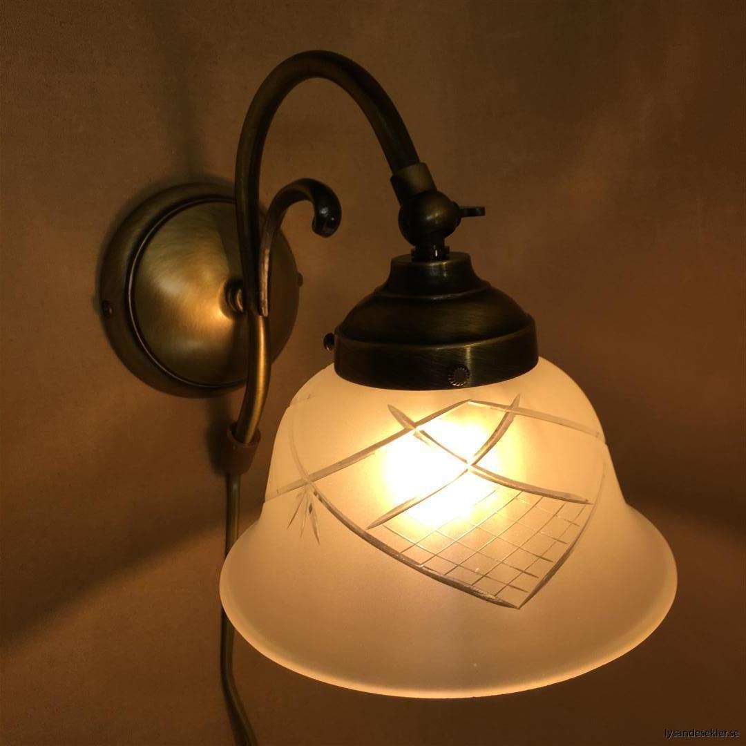 vägglampa jugend mässing elektrisk läslampa (67)