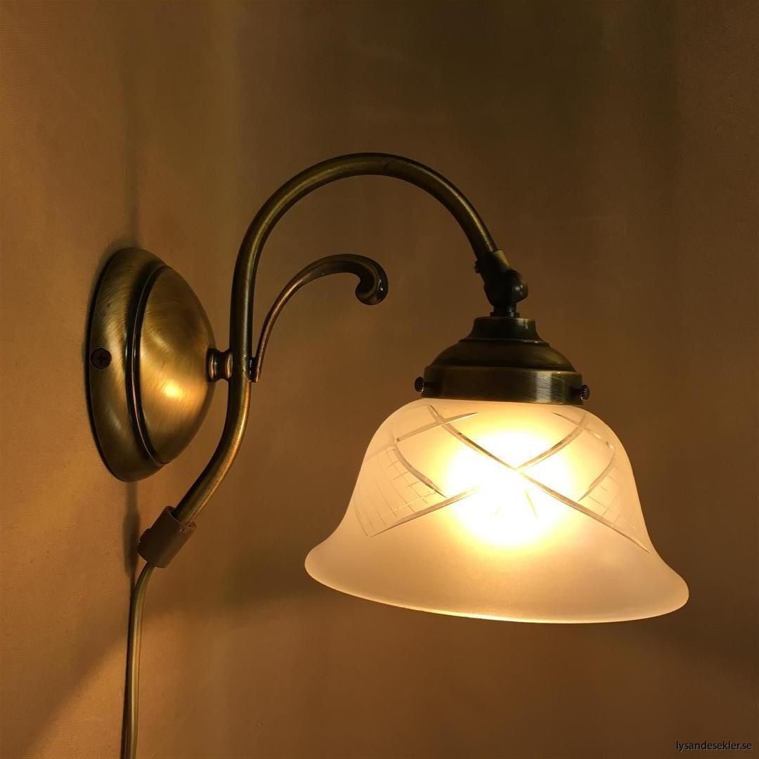 vägglampa jugend mässing elektrisk läslampa (72)