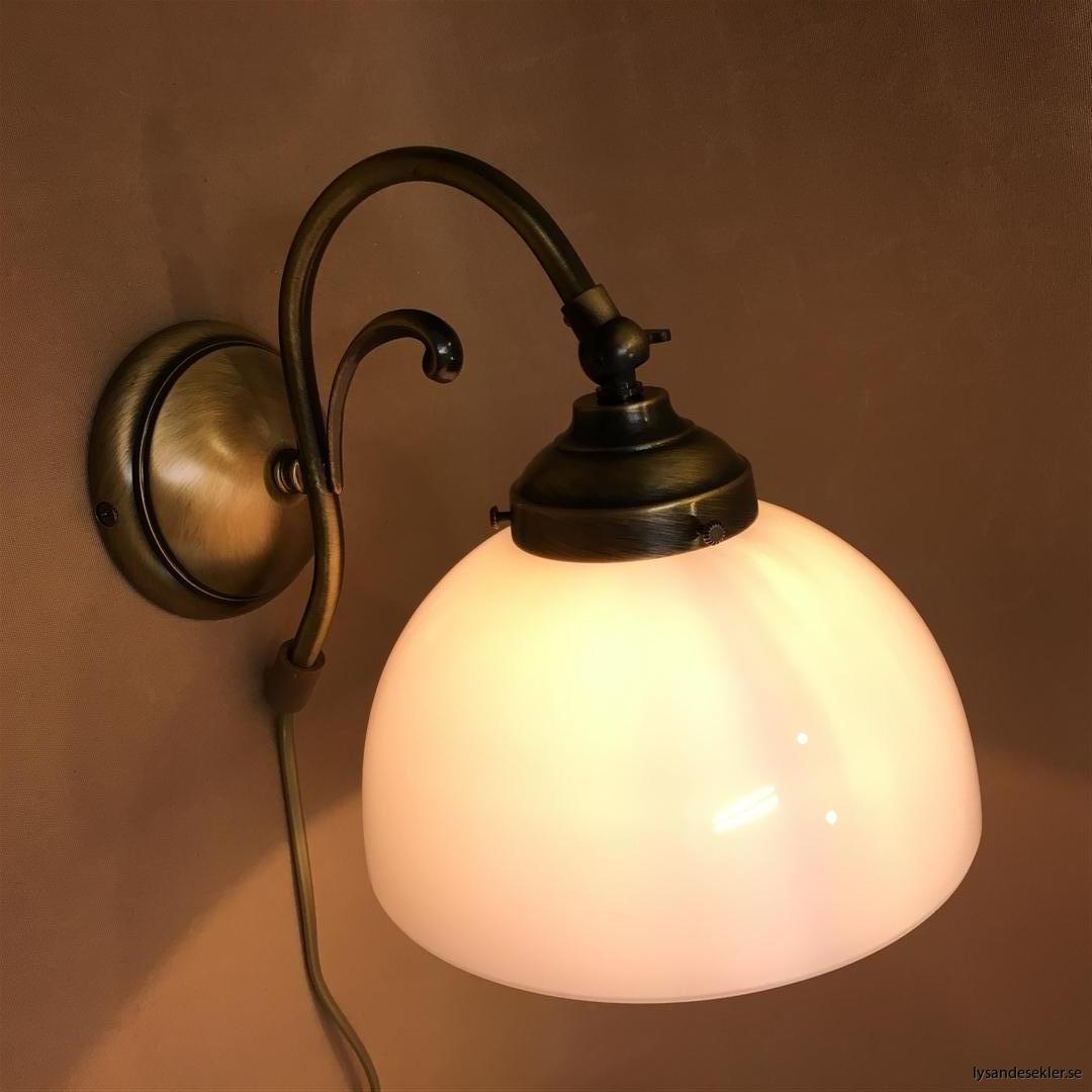 vägglampa jugend mässing elektrisk läslampa (34)