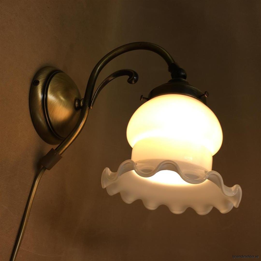 vägglampa jugend mässing elektrisk läslampa (115)