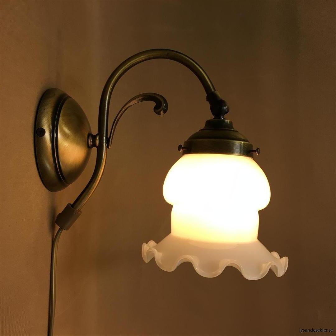 vägglampa jugend mässing elektrisk läslampa (113)