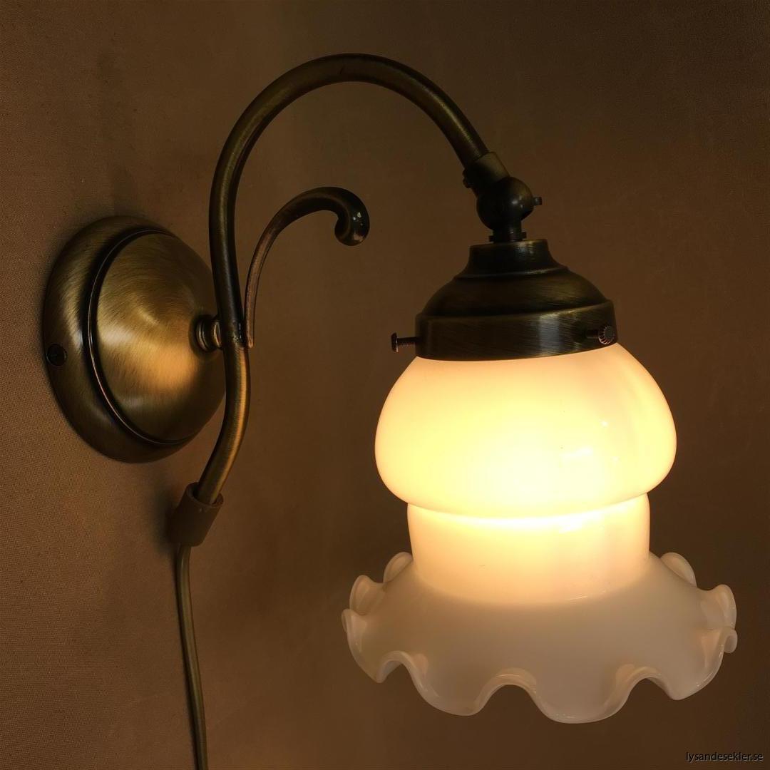 vägglampa jugend mässing elektrisk läslampa (114)