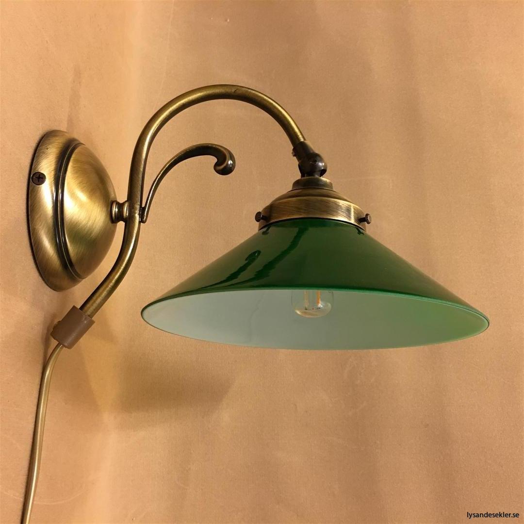 vägglampa jugend mässing elektrisk läslampa (19)