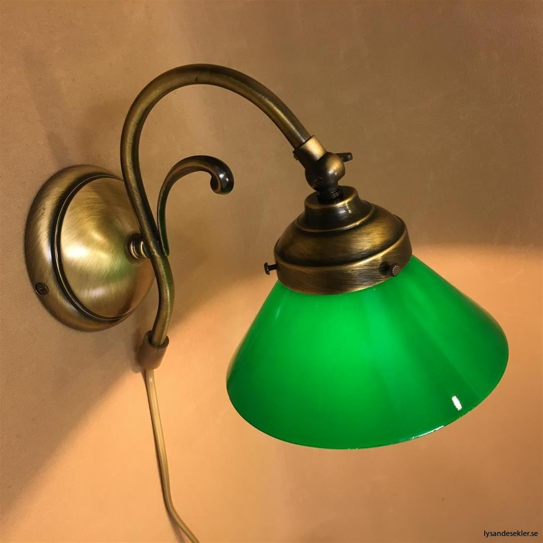 vägglampa jugend mässing elektrisk läslampa (33)
