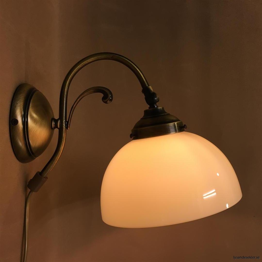 vägglampa jugend mässing elektrisk läslampa (4)