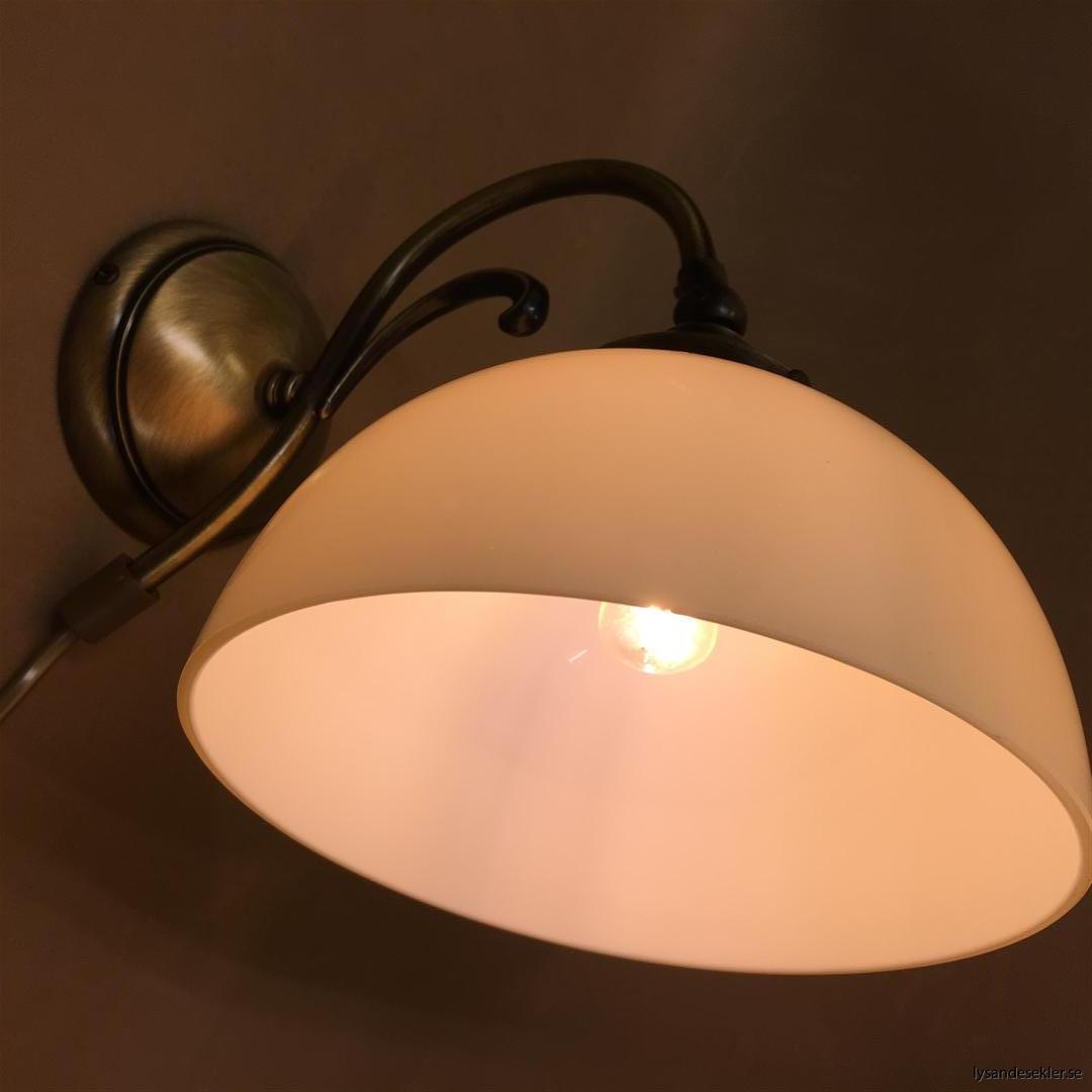 vägglampa jugend mässing elektrisk läslampa (5)