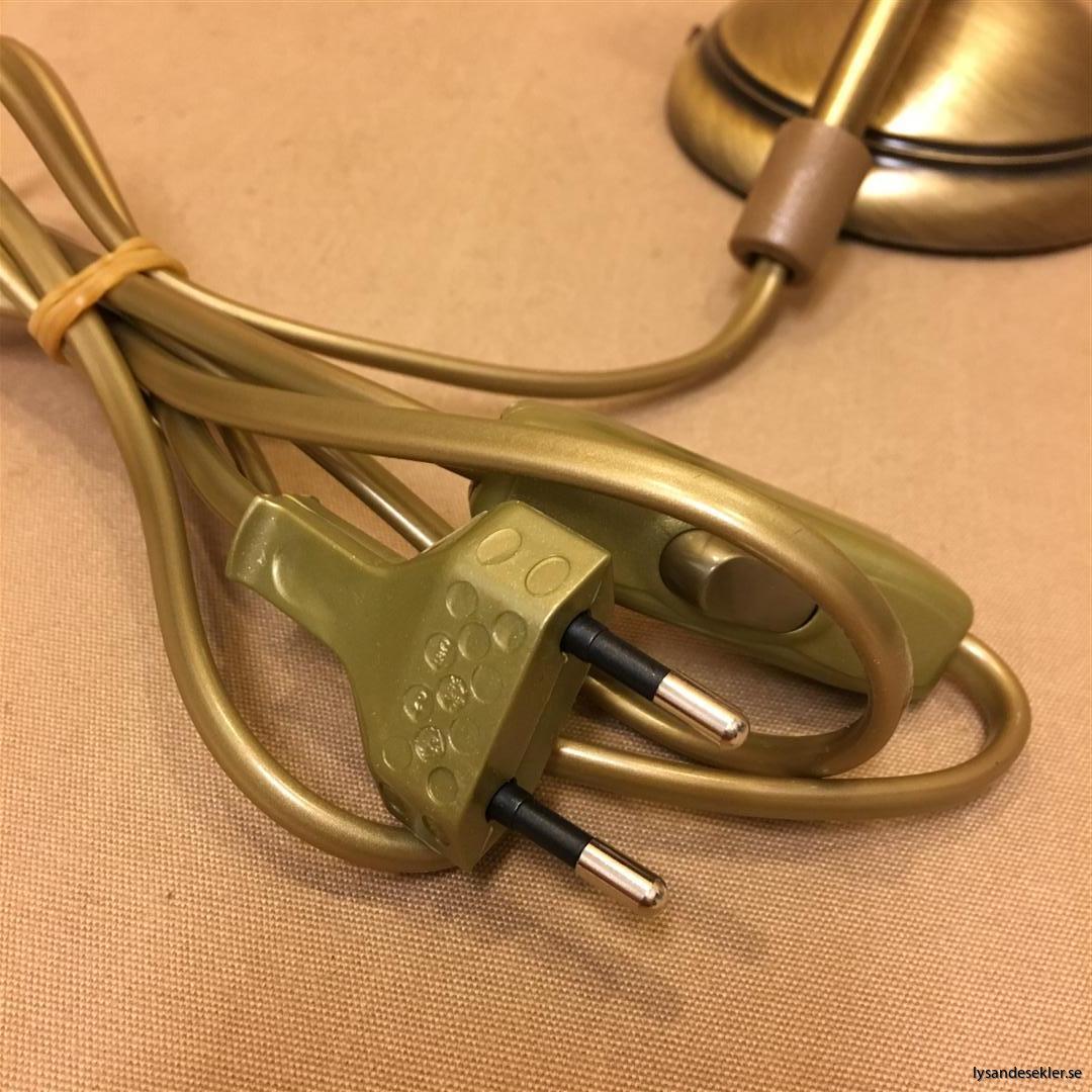 jugend antikoxiderad mässing lampfot för 60 mm skärm eller kupa