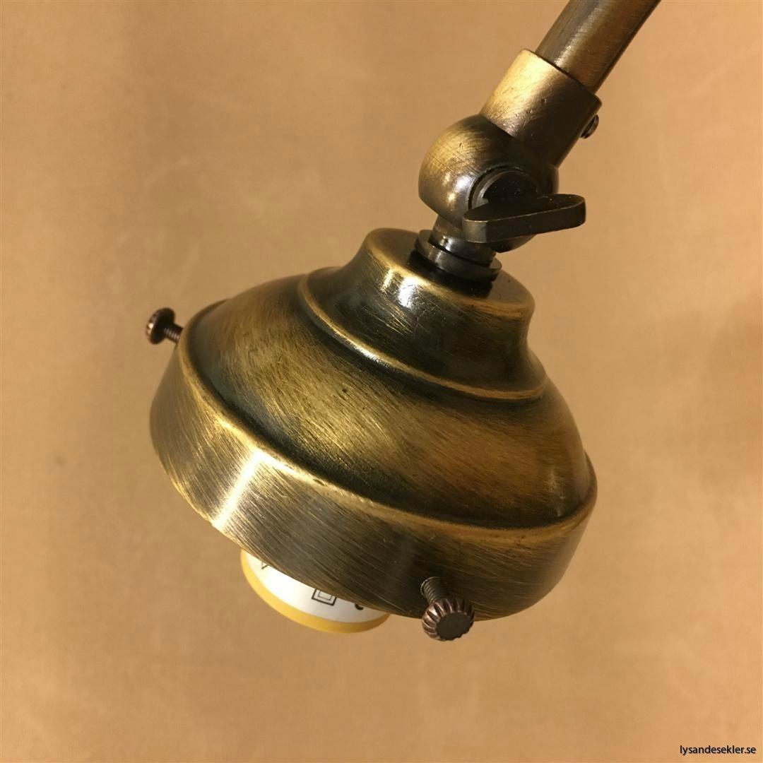 jugend antikoxiderad mässing lampfot för 60 mm skärm eller kupa (10)