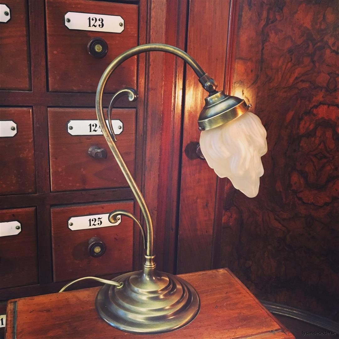 jugendlampa jugendlampan bordslampa mässing (20)