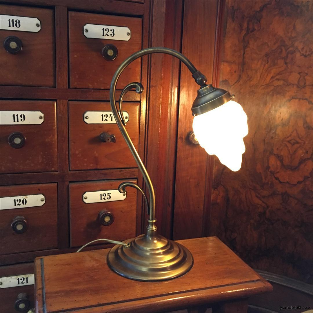jugendlampa jugendlampan bordslampa mässing (19)