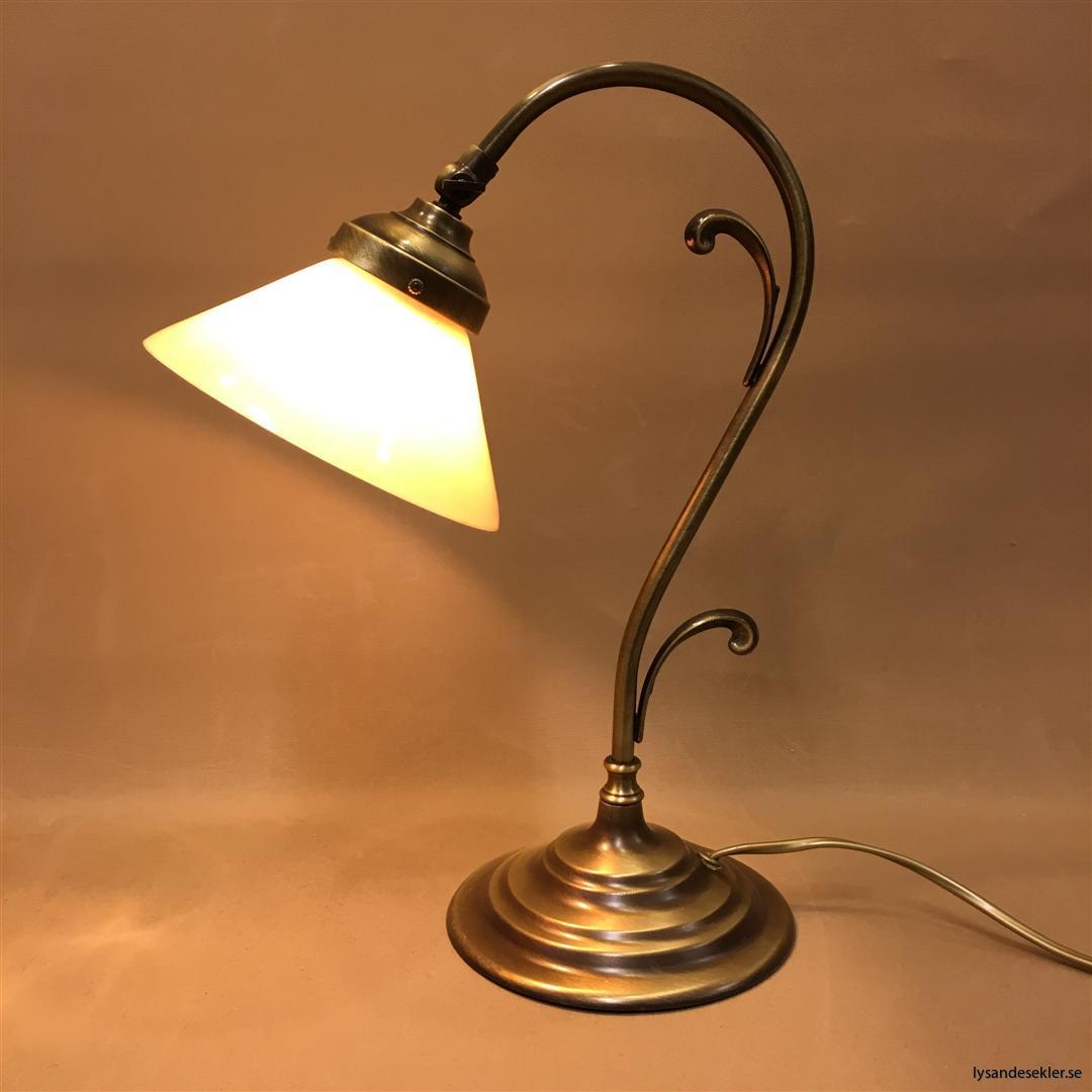 jugendlampa jugendlampan bordslampa mässing