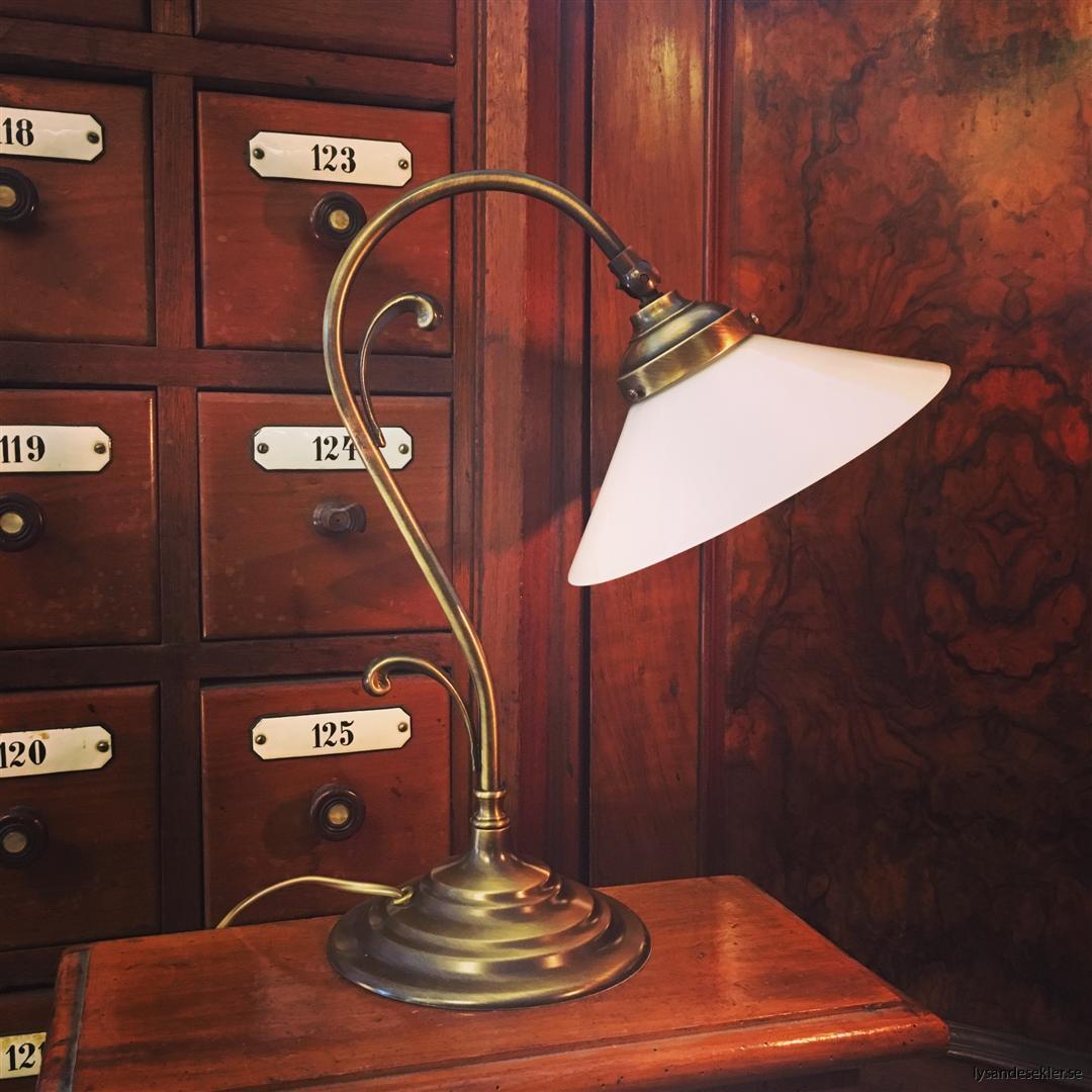 jugendlampa jugendlampan bordslampa mässing (11)