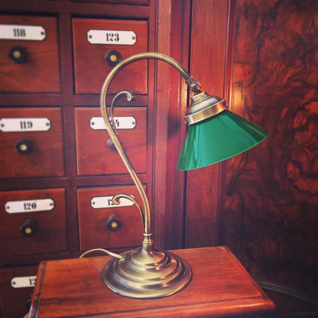 jugendlampa jugendlampan bordslampa mässing (6)