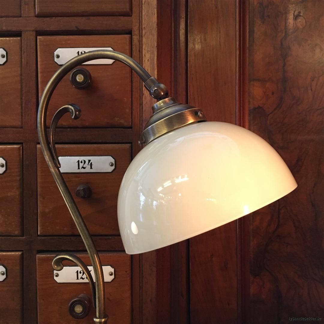 jugendlampa jugendlampan bordslampa mässing (16)