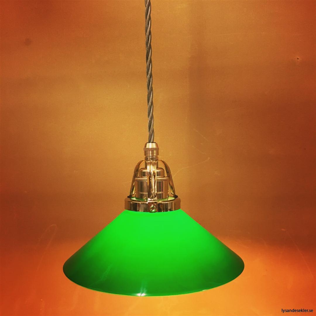 fönsterlampa i tygsladd nicklat fäste (20)