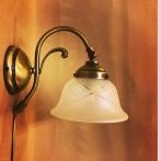 Vägglampa jugend med slipat frostat glas utsvängt