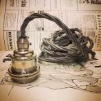 Tygsladdsupphäng grått/nickel med 2 ringar