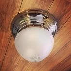 Taklampa ampelplafond frostad/nickel 31 cm