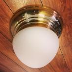 Taklampa ampelplafond optisk/mässing 31 cm