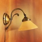 Vägglampa jugend med liten gul skomakarskärm