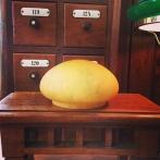 Skärm gulmarmorerad liten (120 mm) - till Strindbergslampa