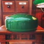 Skärm mörkgrön stor (235 mm) - till Strindbergslampa