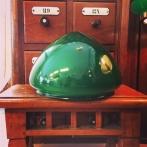 Skärm toppig grön mellan (200 mm) - till Strindbergslampa