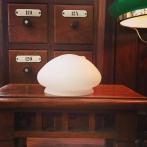 Skärm vitmarmorerad liten (118 mm) - till Strindbergslampa