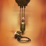 Sladdupphäng med hiss - brunt/antik med klofattning(3 skruvar)