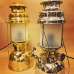 Petromax bordslampa frostad HK 500 - elektrifierad