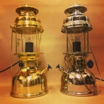 Petromax bordslampa klarglas HK 500 - elektrifierad