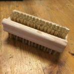 Nagelborste trä och tagel