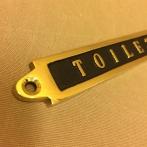 Mässingsskylt: Toilet