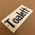 Plåtskylt: Toalett