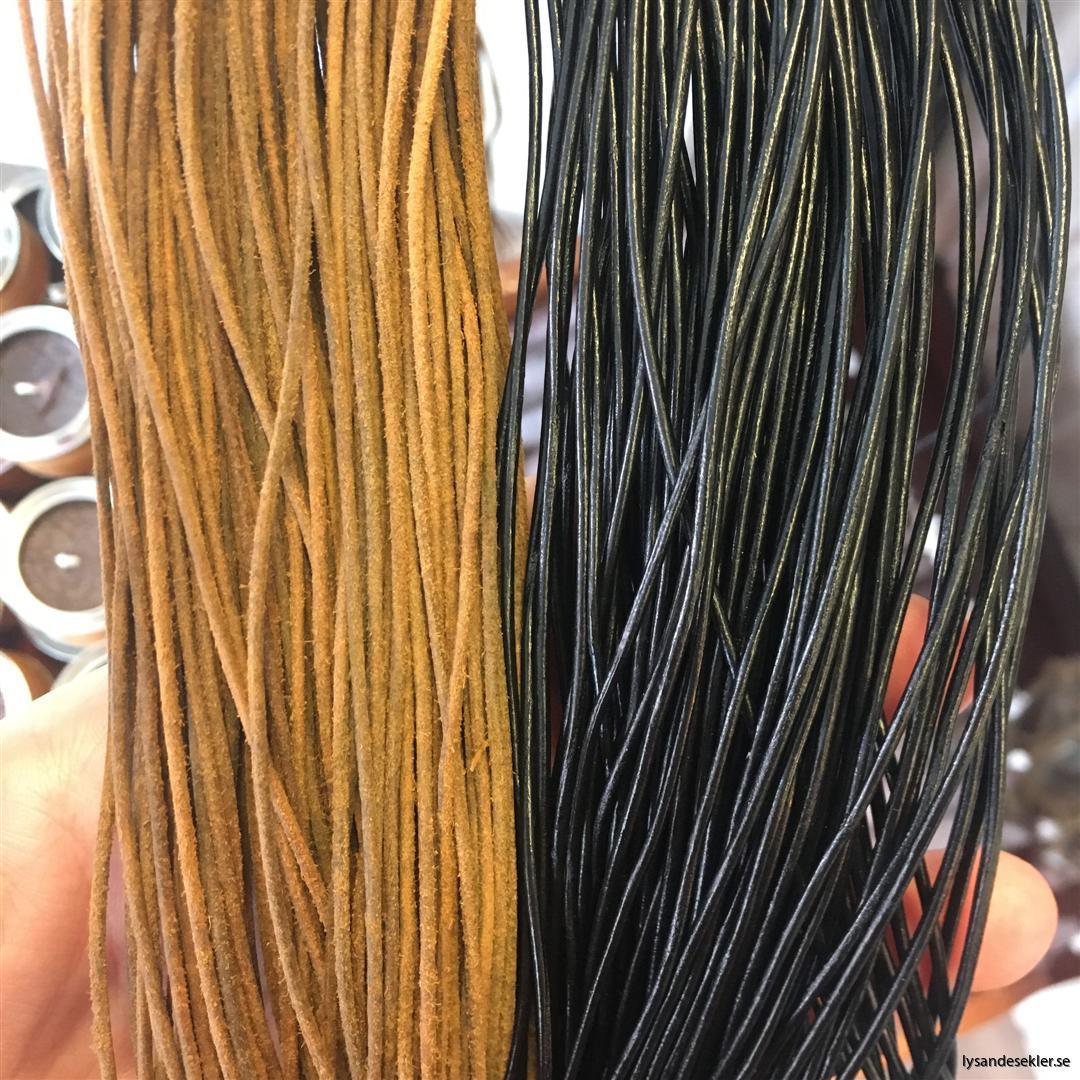 läderrem brun svart tunn lädersnöre (1)