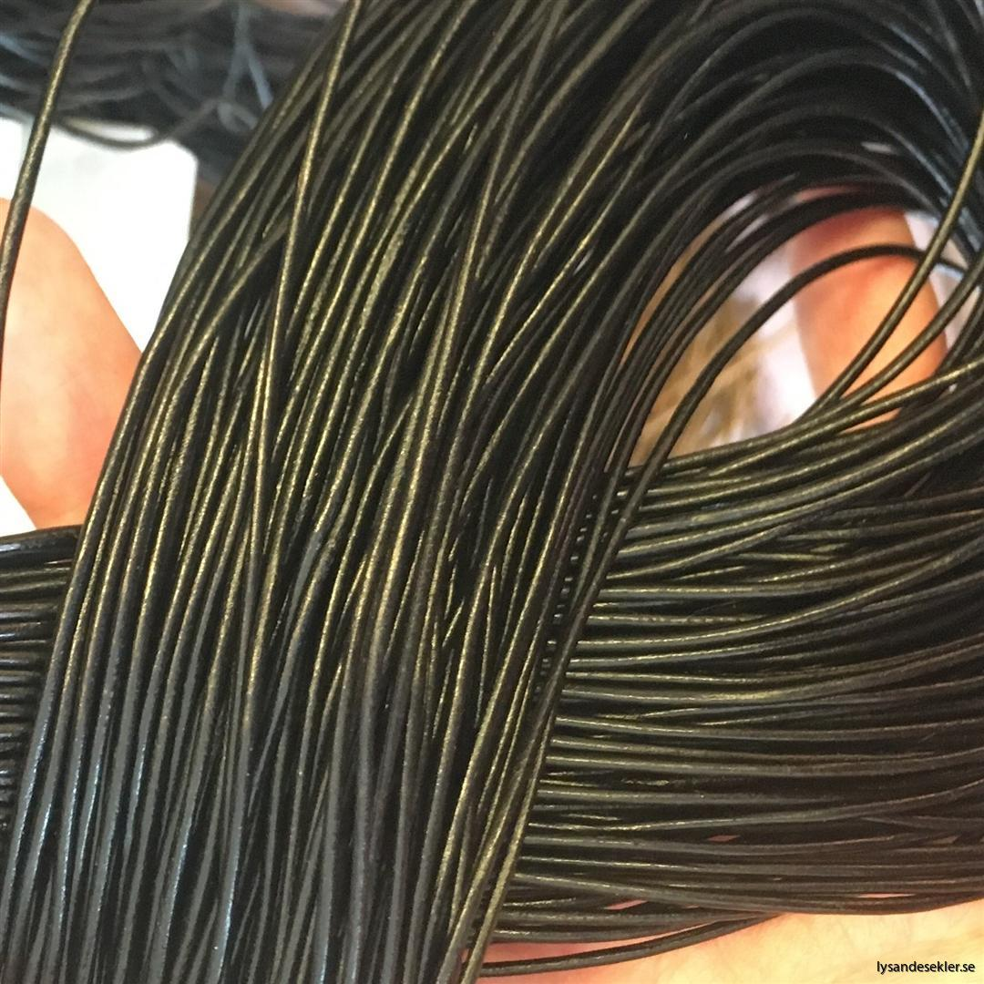 läderrem brun svart tunn lädersnöre (3)