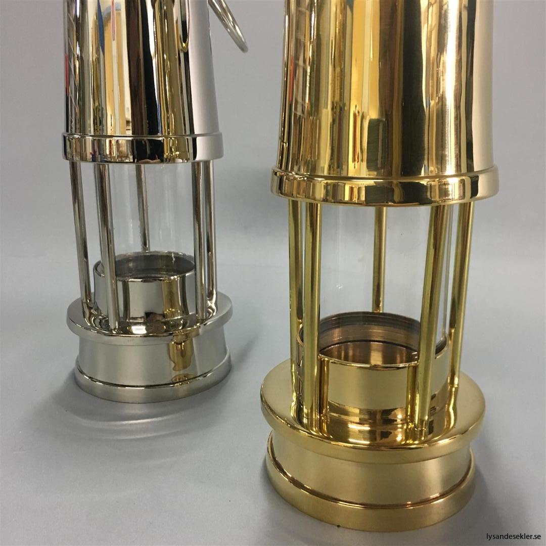 ljusstake värmeljus stormsäker miner's lamp mässing krom (1)