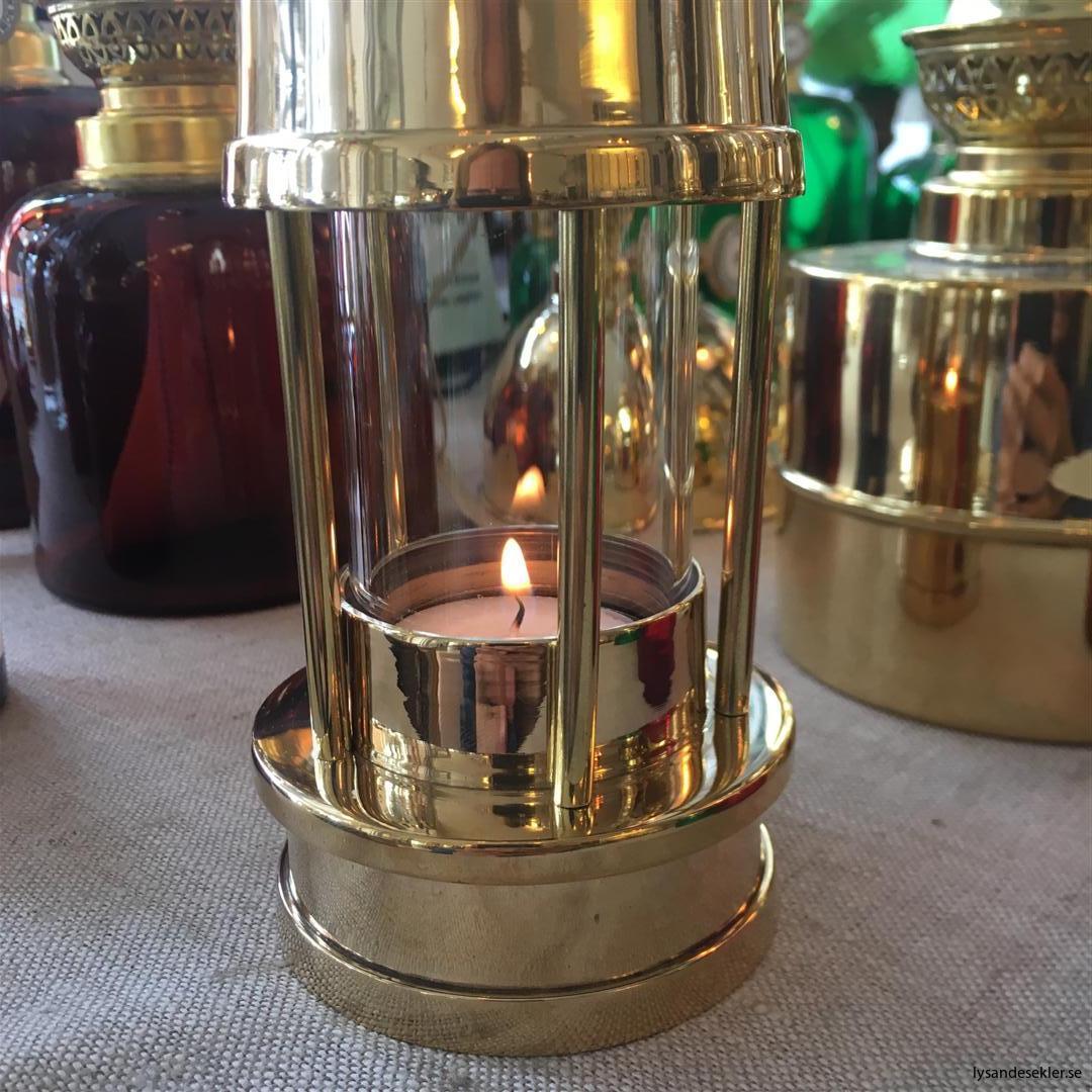 ljusstake värmeljus stormsäker miner's lamp mässing krom (14)
