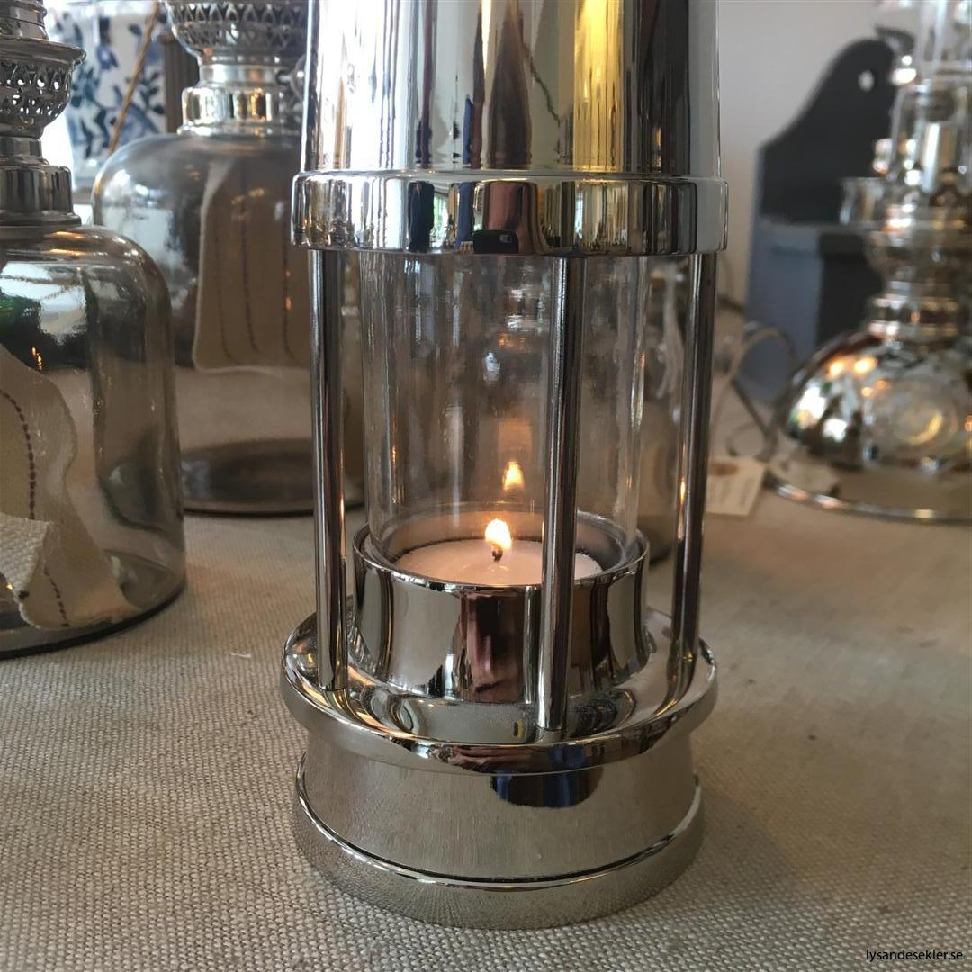 ljusstake värmeljus stormsäker miner's lamp mässing krom (16)