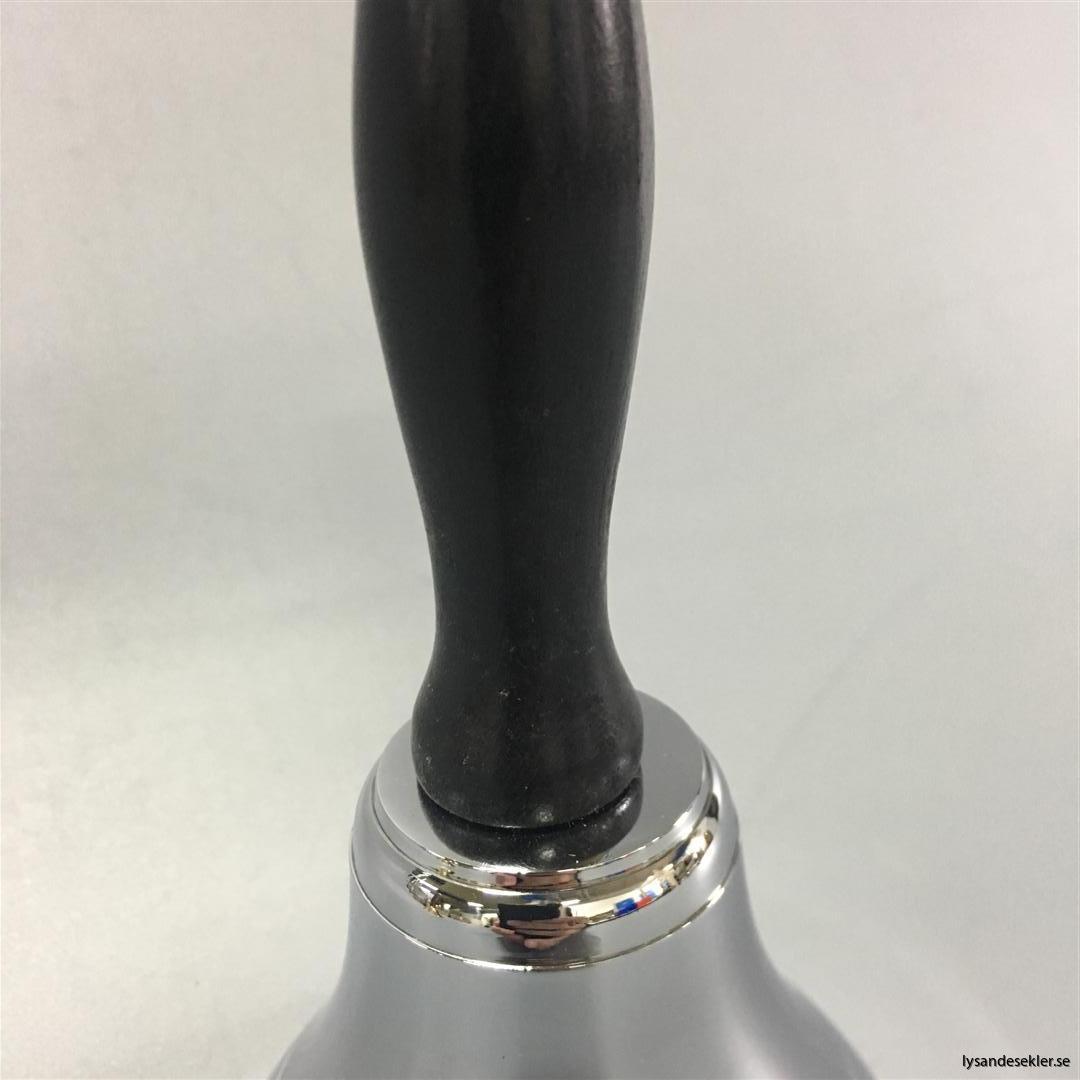 handklocka handbjällra diskklocka receptionsklocka mässing krom trähandtag (9)