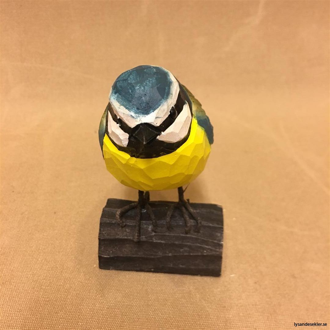 handsnidad blåmes fågel trä dekoration (7)