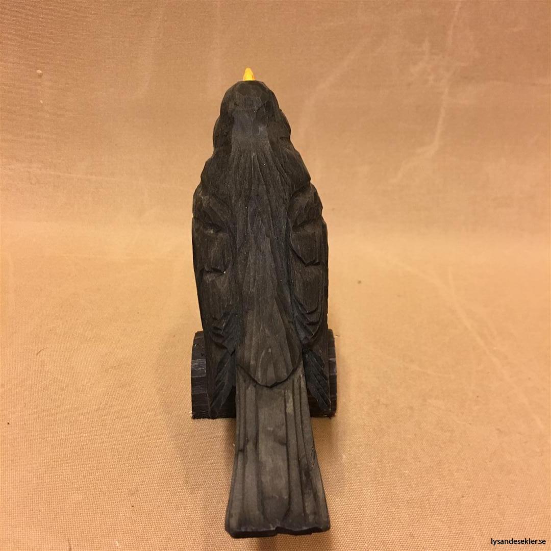 koltrast  handsnidad fågel trä snidad dekoration (5)