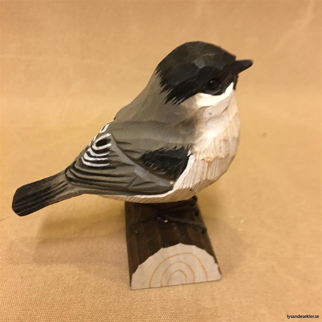 entita  handsnidad fågel trä snidad naturlig storlek dekoration (2)