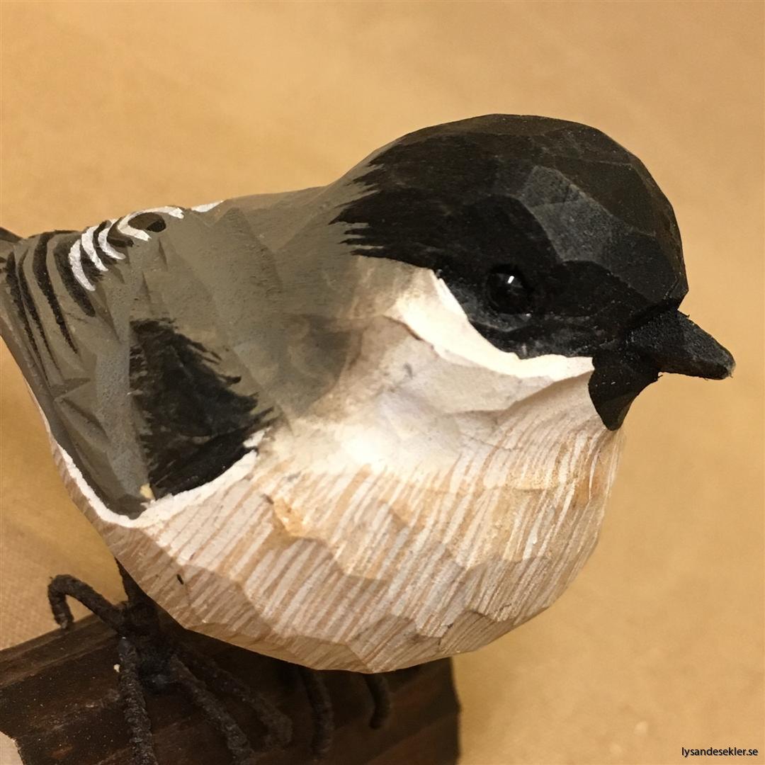 entita  handsnidad fågel trä snidad naturlig storlek dekoration (6)