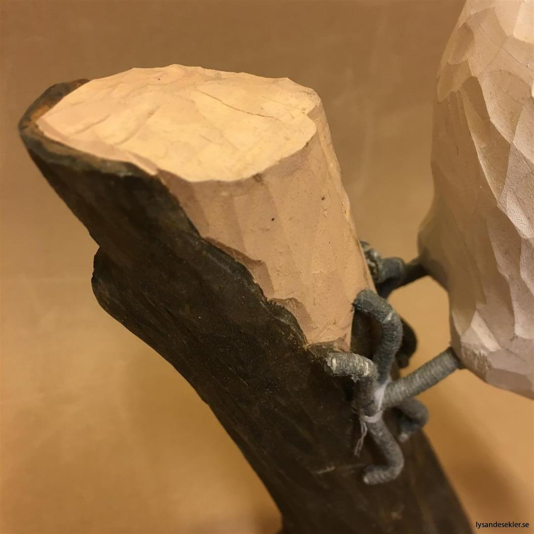 hackspett  handsnidad fågel trä snidad dekoration (2)
