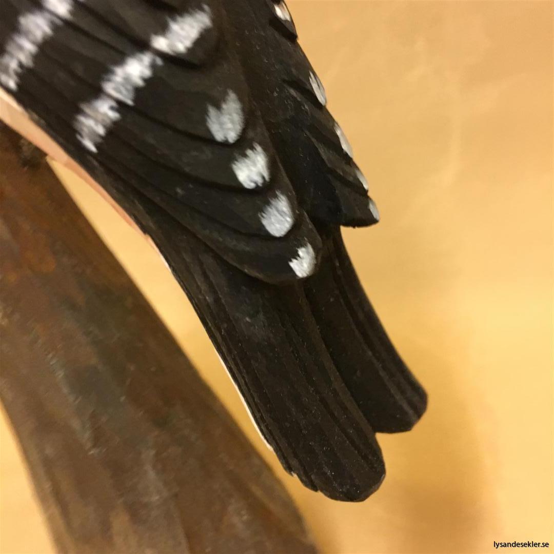 hackspett  handsnidad fågel trä snidad dekoration (4)