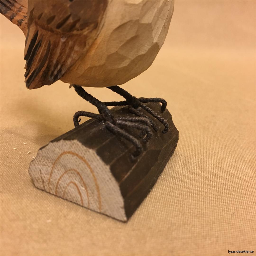 gärdsmyg  handsnidad fågel trä snidad naturlig storlek dekoration (6)