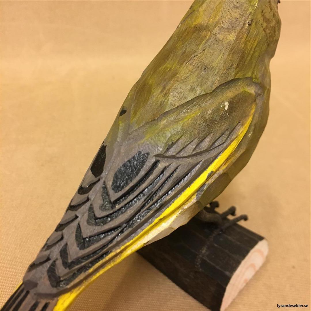 grönsiska handsnidad fågel trä snidad naturlig storlek dekoration (7)